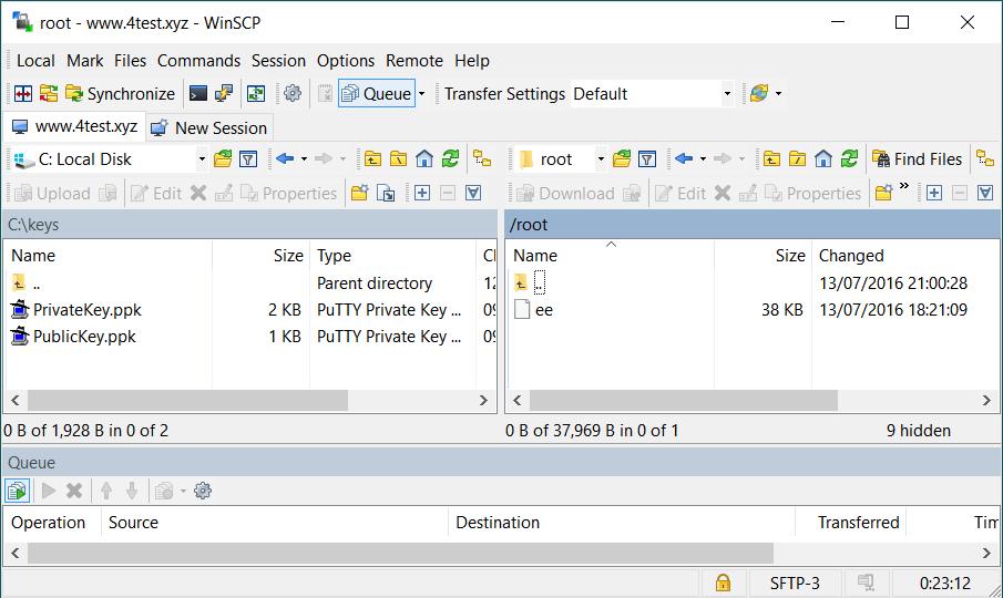 Step8.1.2 WinSCP Client
