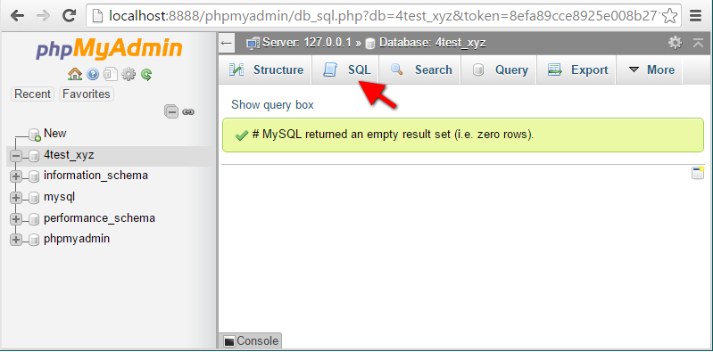 Step11 PhpMyAdmin SQL Success Execution
