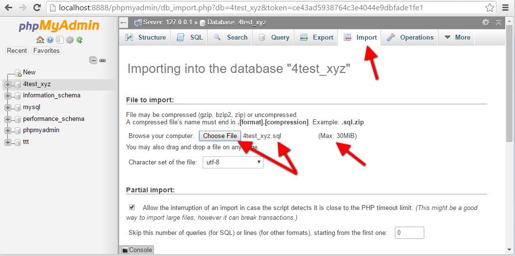 Step14 PhpMyAdmin Import Database